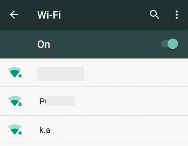 wifi network list