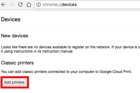 devices, chrome, classic printer
