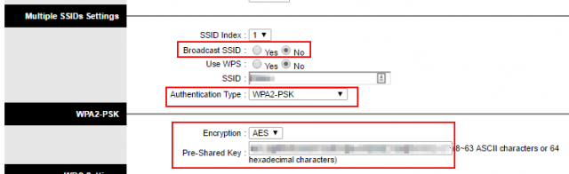 setup wifi password