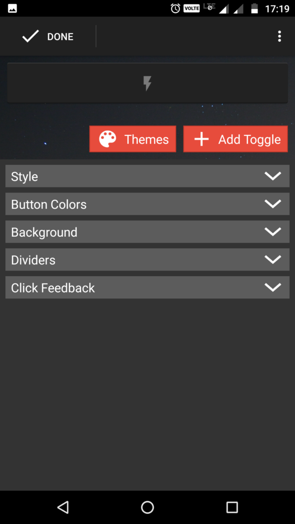 select add toggles