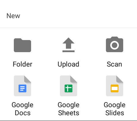 google drive upload files