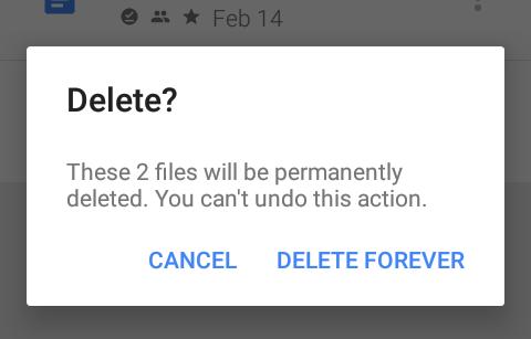 google drive delete file