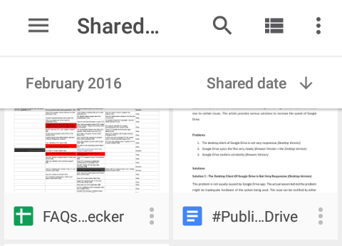 google drive shared window