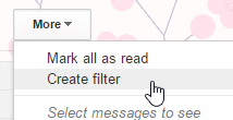 gmail create filter