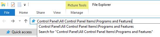 file explorer/windows explorer address bar