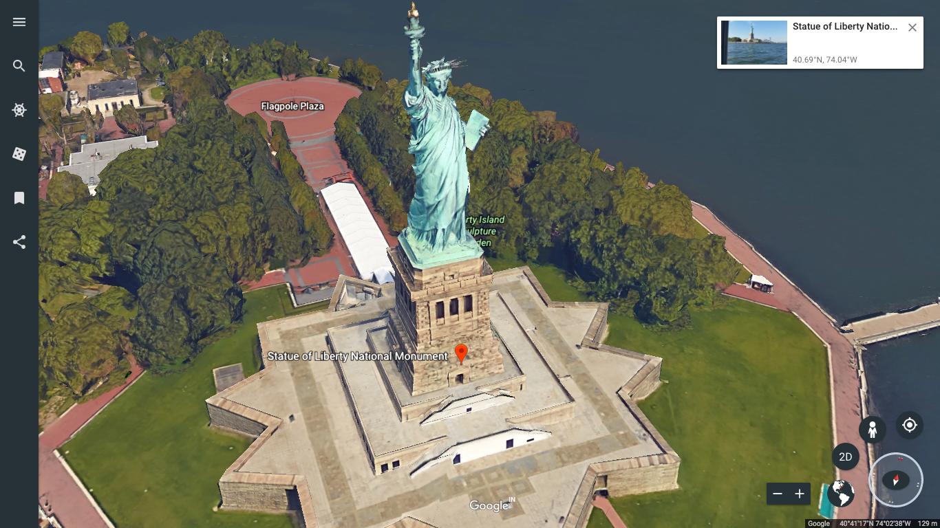 View Angle on Google Earth