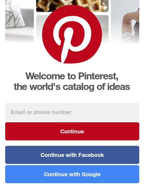 pinterest app login for android