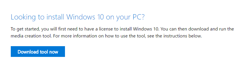 windows 10 media creation tool kit