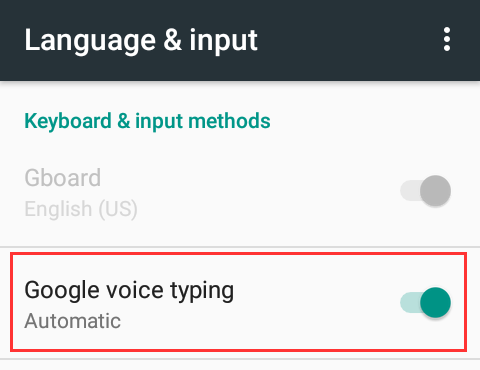android voice to text