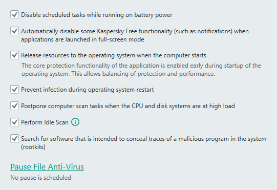 kaspersky antivirus performance