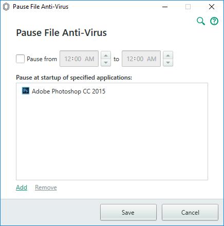 kaspersky antivirus pause