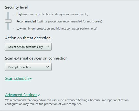 kaspersky antivirus scan