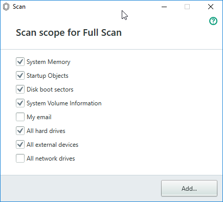 scan scope kaspersky antivirus guard