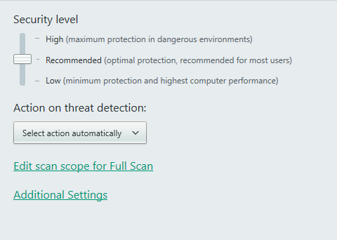advanced settings kaspersky antivirus guard