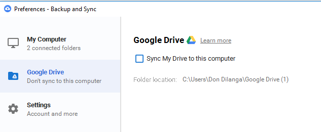 sync my drive to google drive, google backup and sync