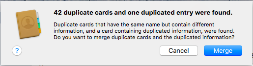 Duplicates found on mac