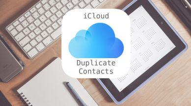 icloud duplicate contacts