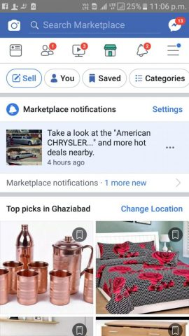 FB marketplace on mobile