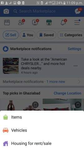 selling car on fb marketplace
