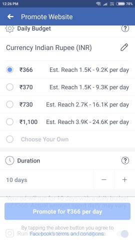 Ad Budget Fb