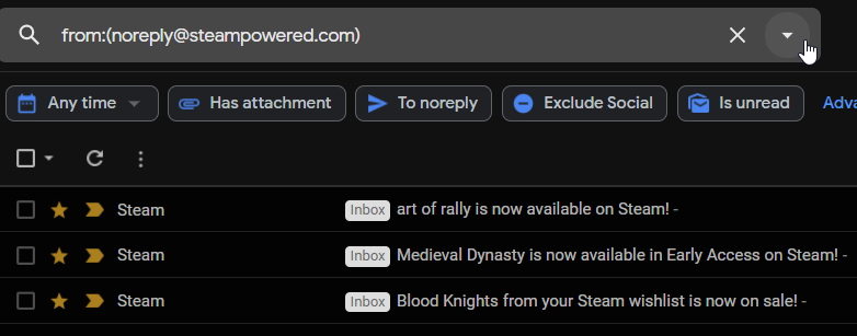 gmail filters